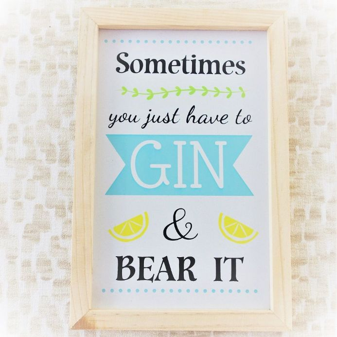 20% OFF Gin And Bear It Framed Sign